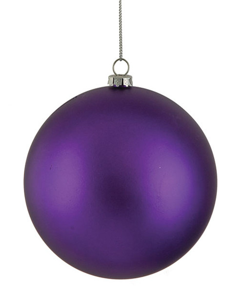 Purple Matte Ball Ornaments, Sizes Include 4 Inch and 6 Inch