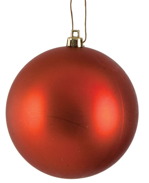 Copper Matte Ball Ornaments in 4 Inch or 6 Inch Sizes
