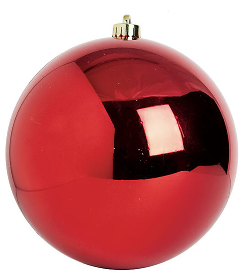 8 Inch and 10 Inch Large Red Reflective Ball Ornament