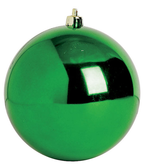 Green Reflective Ball Ornaments in 4 Inch, 6 Inch, 8 Inch and 10 Inch Sizes