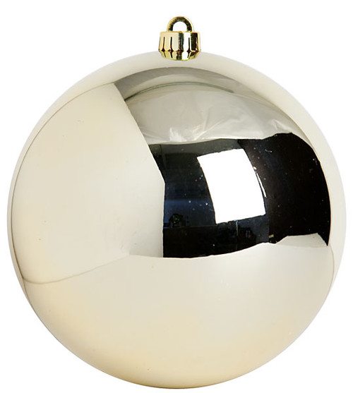 8 Inch and 10 Inch Reflective Soft Gold Ball Ornament
