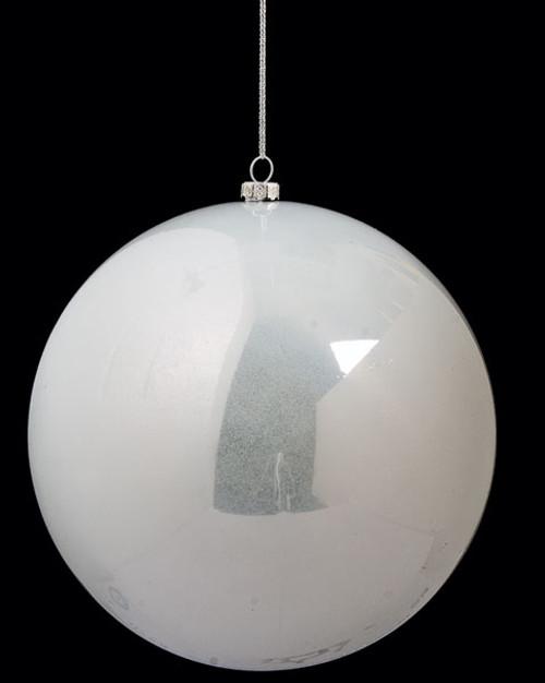 """J-141326/S 6"""" Pearl Ball Ornament  Off White Color"""