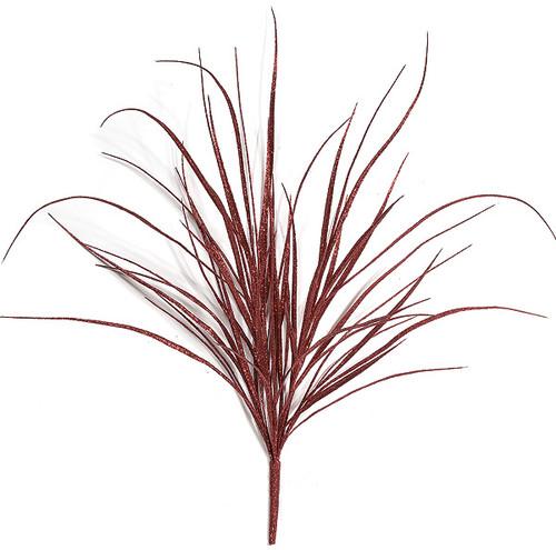 """A-72252 36"""" Red Glitter Grass Bush"""