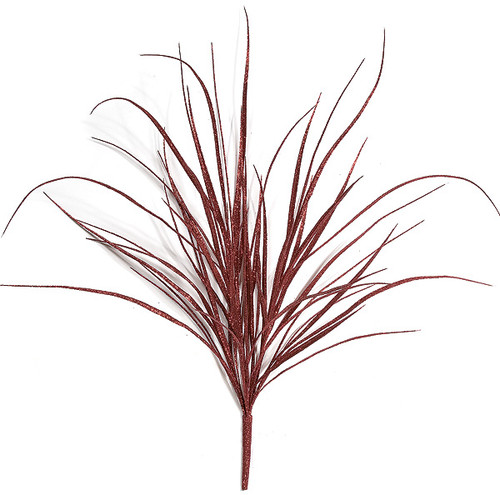 36 Inch Red Glitter Grass Bush