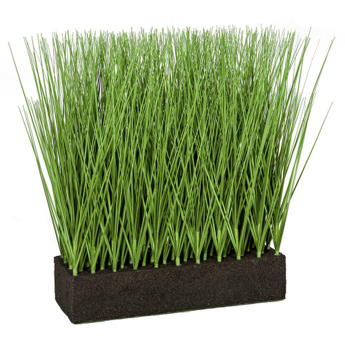 19.5 Inch Planted Rectangle PVC Onion Grass