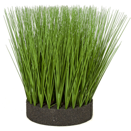 18.5 Inch Planted Round PVC Onion Grass