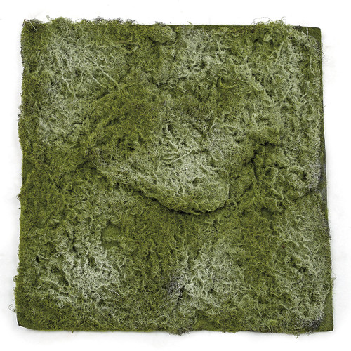 20 Inch x 20 Inch Lightly Flocked Artificial Moss Carpet