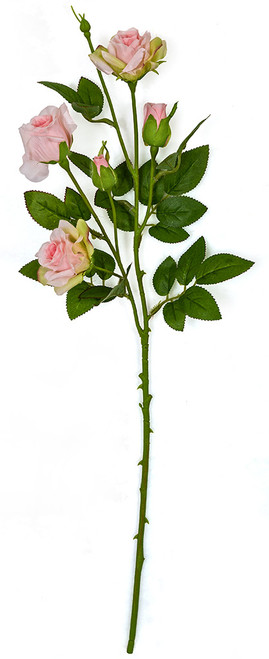 23 Inch Artificial Mini Rose Sprays in Pink Or White Colors