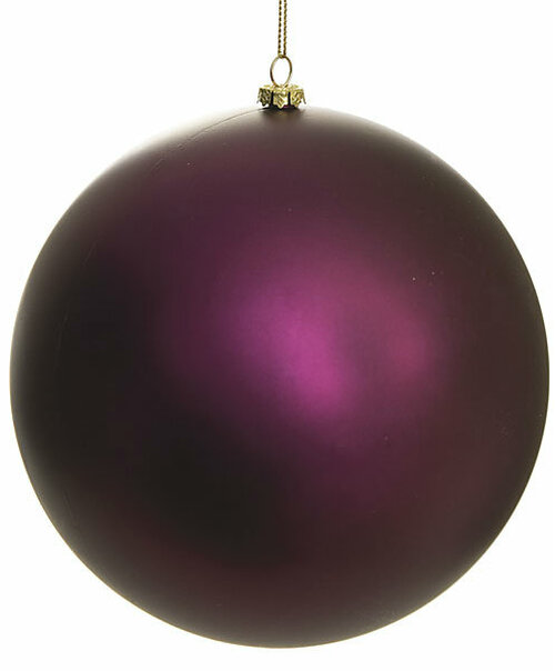 8 Inch Matte Burgundy Ball Ornament
