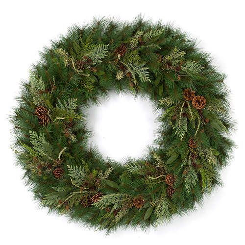 "C-170026 48"" Timbercove Wreath with Juniper/Bay Leaves/Cedar"