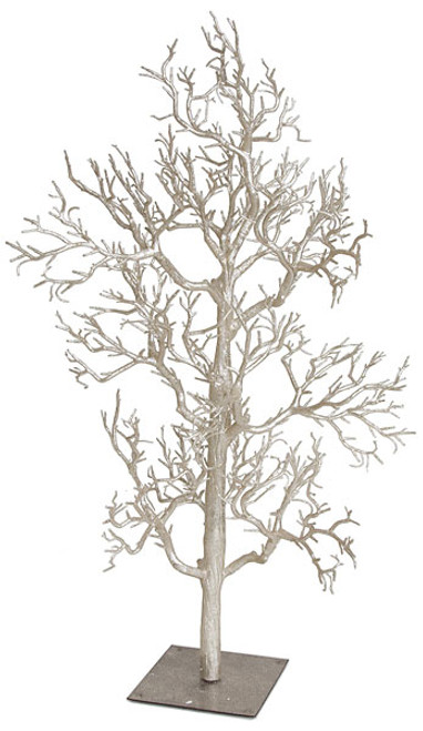 42 Inch Glittered Twig Tree in Rose Gold, Silver or Gold