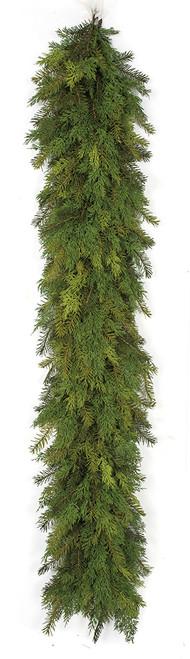 6 Foot Natural-Look Mixed Cedar and Pine Garland