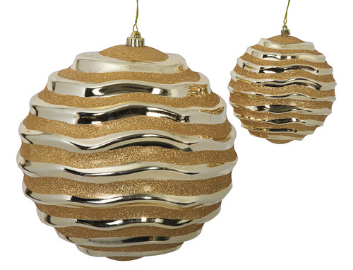 """6"""" and 12"""" Gold Swirl Ball"""