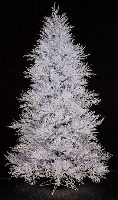 7.5' Snow Coral Trees with 3mm Mini Cluster Lights