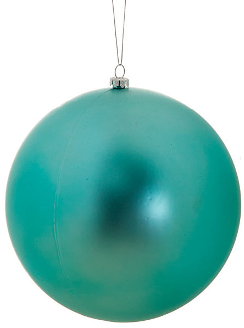 4 Inch and 6 Inch Matte Teal Ball Ornament