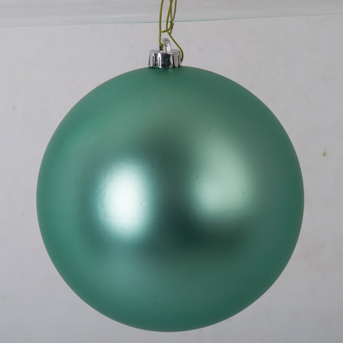 8 Inch Teal Matte Ball Ornament