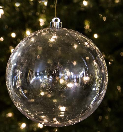 """J-180830 - 8"""" Clear Ball Ornament"""