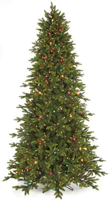 9' PE/PVC Pippa Pine Tree  with Multi-Colored Lights