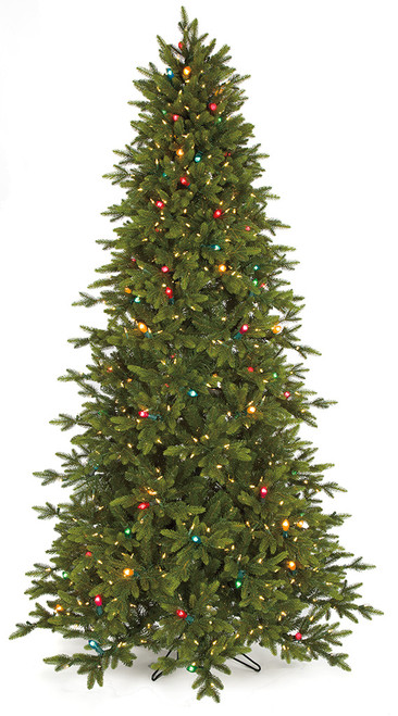 Twinkling Pippa Pine Tree with Multi-Colored and LED Lights in 7.5 Ft. and 9 Ft. Tall