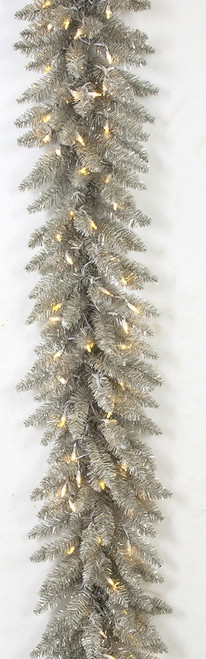 9 Foot Vintage Champagne Garland with Twinkling LED Lights