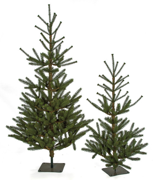 3.5 Foot and 5 Foot PE Dawson Fir Trees with Square Base Plate