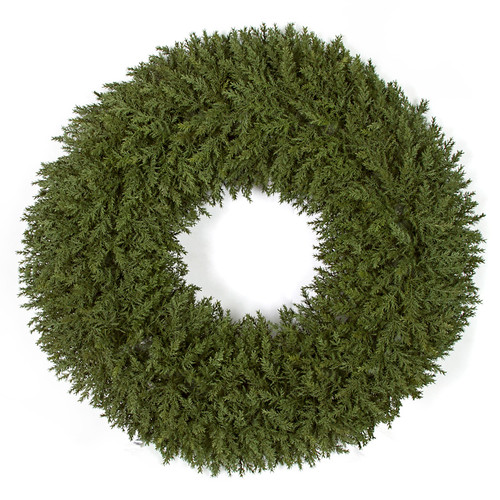30 Inch Artificial Natural Look Cedar Wreath