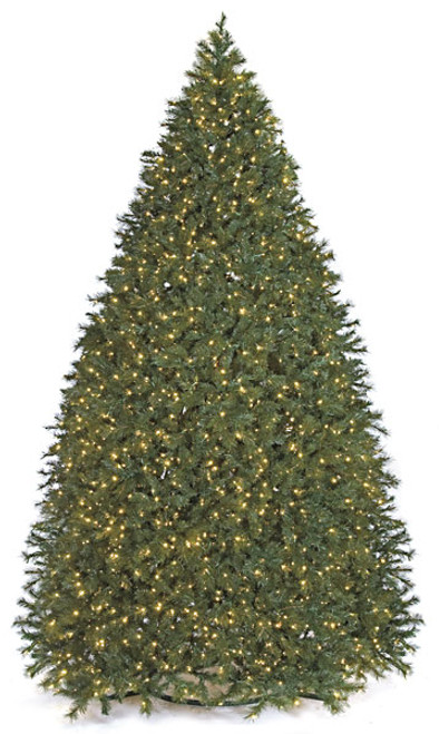 16.5 Foot Full Size Commercial Tower Tree with LED Lights