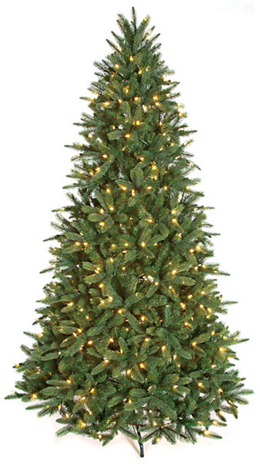 7.5 Foot or 9 Foot PE/PVC Kennedy Fir Tree with LED Lights