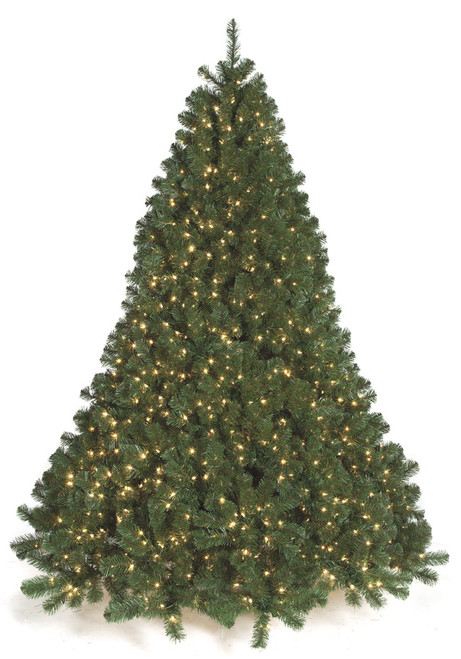 Deluxe Full Size Virginia Pine Trees with Lights in 7.5 Ft., 10 Ft. and 15 Ft. Tall