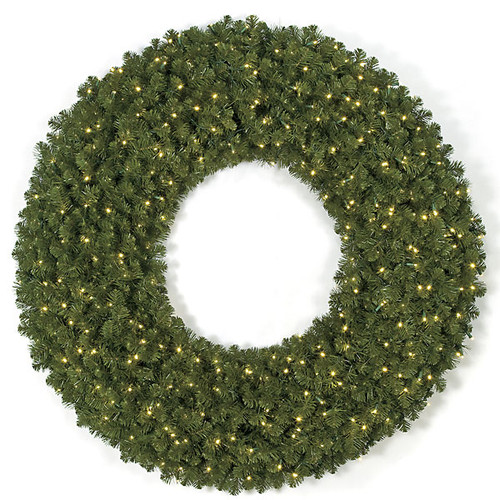 60 Inch Limber Pine Wreaths with LED Lights or Clear Stay On Lights