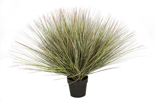 36 Inch Potted Mixed PVC Onion Grass Bush with Red Tips