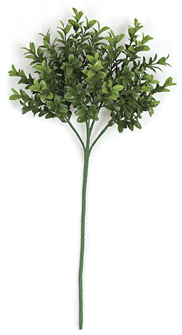 18 Inch x 7 Inch UV and IFR Artificial Boxwood Pick (Sold by the Dozen)