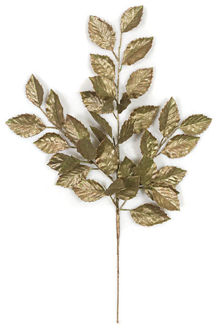 24 Inch Metallic Apple Spray - Sage/Gold