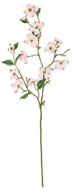 36 Inch Artificial Pink Dogwood Spray (SOLD BY PIECE)