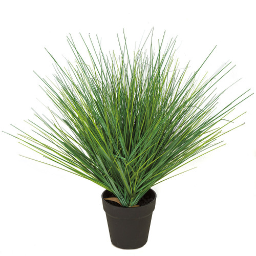 "22"" Potted PVC Onion Grass Bush Green"
