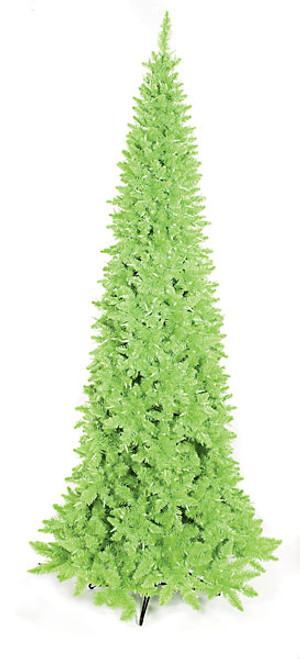 7.5 Foot Prelit Ashley Lime Green Slim Tree