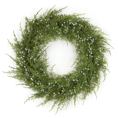 "20"" Plastic Juniper Wreath"