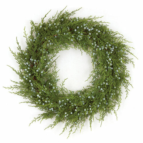 20 Inch Plastic Juniper Wreath