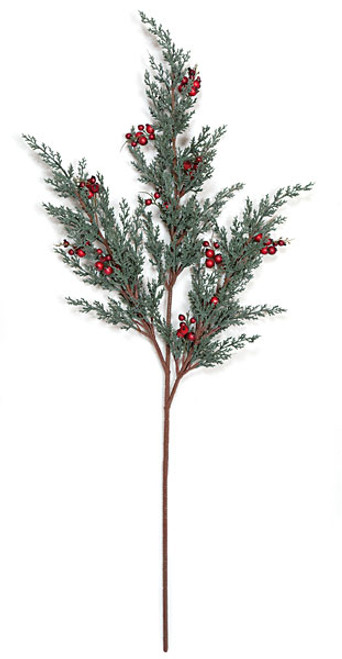 """a-12309033"""" Plastic Juniper Spray with Red Berries"""