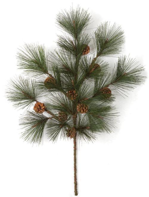"32"" PVC Pine Spray Pine Cones"