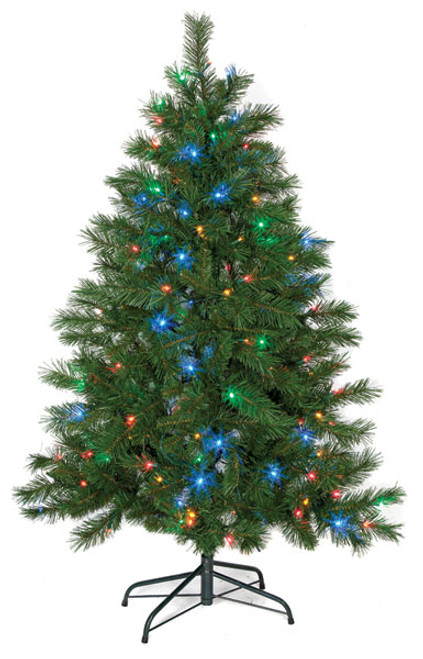 5' Noble Fir with Multi-Color LED Lights