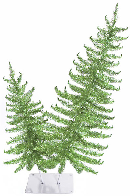 24 and 36 Inch Alberta Tinsel Tree - Green