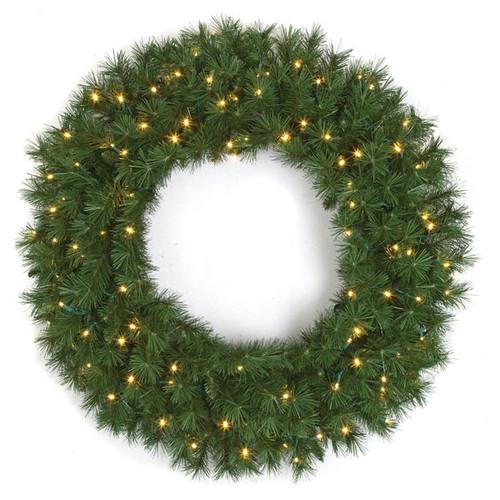 "C-15089836"" Westford Pine Wreathwith Lights"