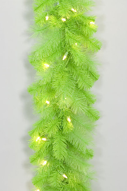 6' Lime Green Garlandwith 5mm LED Lights