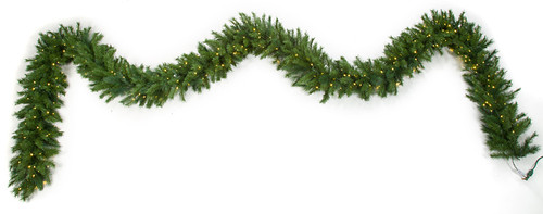 "25' x 18"" Mixed Pine Garland/Swag with LED Lights"