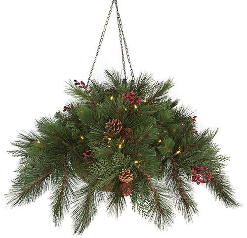 """C-106178B15"""" Hanging PVC Pine Basket"""