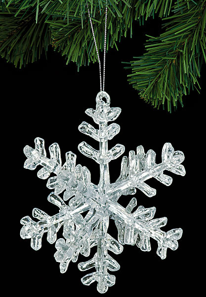 6 Quot Acrylic 3d Snowflake Ornament Clear Snowflake Ornaments In Bulk