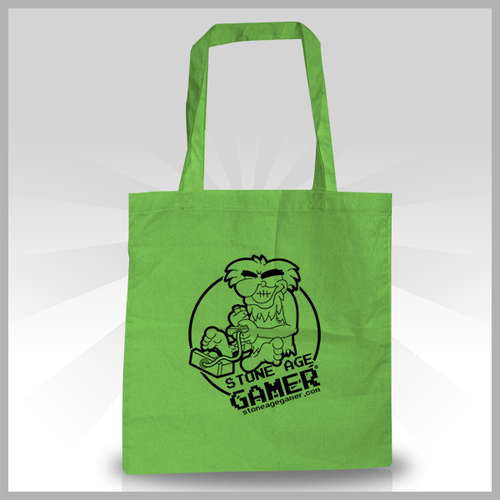 Stone Age Gamer Canvas Tote Bag