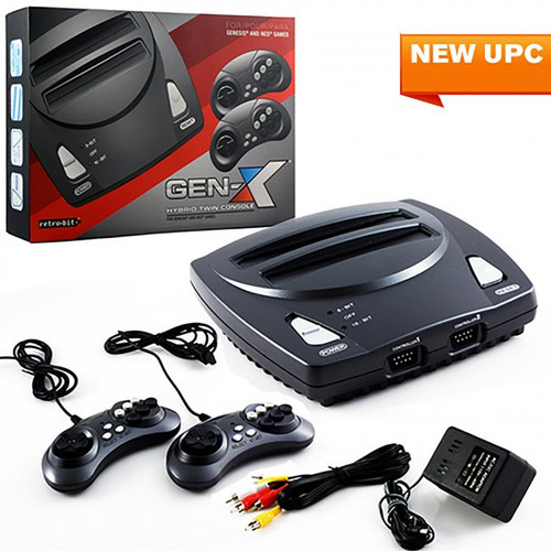 Retro Gen-X NES & Genesis 2in1 System With 2 Controllers