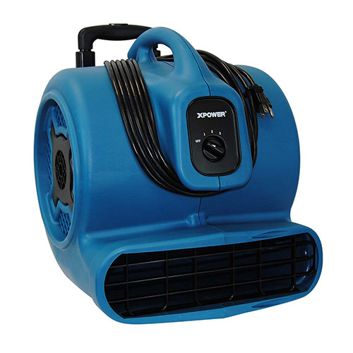 XPOWER P-830H 1 HP Air Mover with Telescopic Handle and Wheels